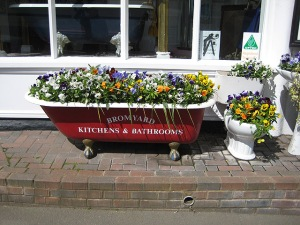 Unusual_plant_containers,_Bromyard_-_geograph.org.uk_-_807127